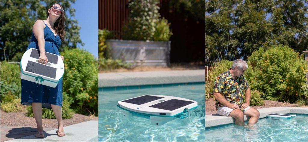 robot skimbot à énergie solaire