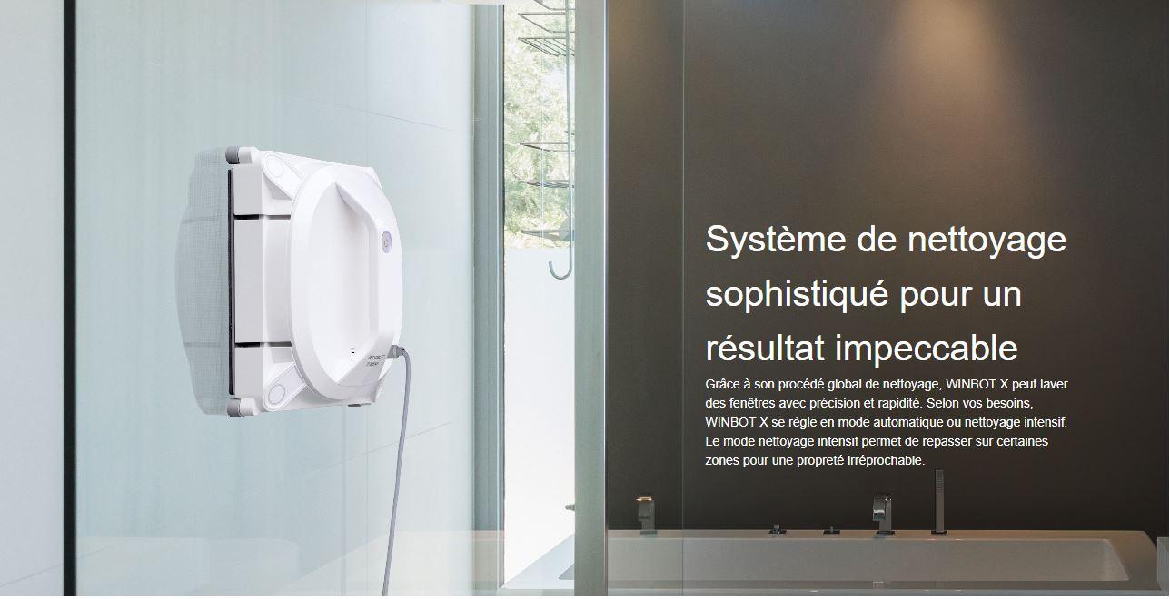 winbot x : le nouveau robot laveur de vitres sans fil ecovacs winbot