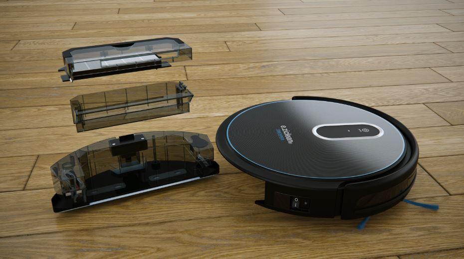 robot aspirateur laveur de sol eziclean sweeper connect. Black Bedroom Furniture Sets. Home Design Ideas