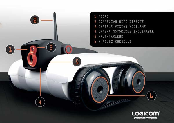 présentation du robot espion spy-c tank