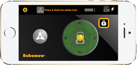 application tablette robomow