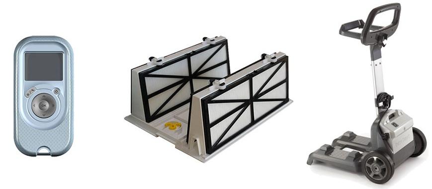 achariot de transport - cassette de filtration
