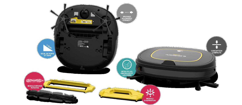 robot aspirateur eziclean CUBE