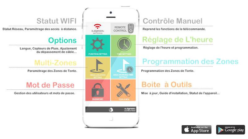 application téléphone et tablette